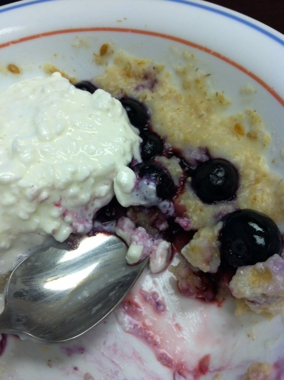Creamy blueberry oats.